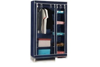 5 Shelves Brand New Easy to assemble Portable Wardrobe Navy