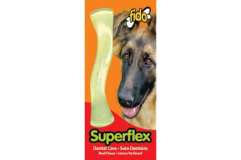 Superflex Nylon Dog Bone - Beef Flavoured - Mid - 13cm - Fido