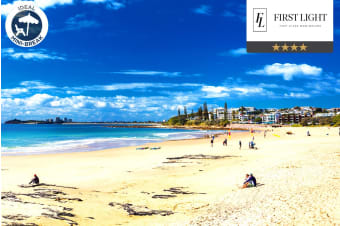 SUNSHINE COAST: 3, 5 or 7 Nights at First Light Mooloolaba for Two or Four