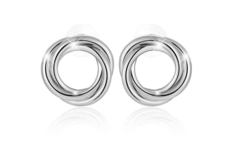 Perfect Twist  Earrings-White Gold