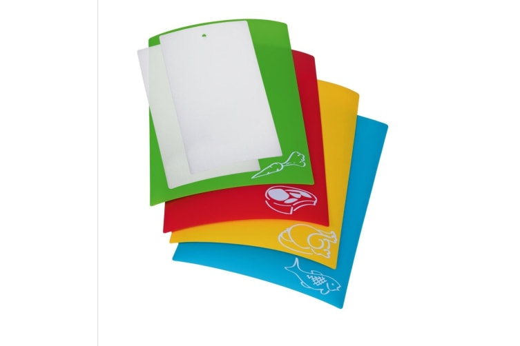 Colour Coded Polypropylene Chopping Mats - Set Of 6