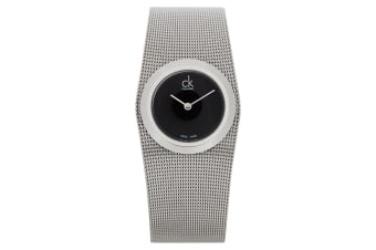 Calvin Klein Women 29mm Impulsive Mesh Stainless Steel Wrist Watch Silver/Black