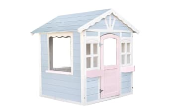 ROVO KIDS Cottage Style Wooden Outdoor Cubby House Girls Childrens Playhouse