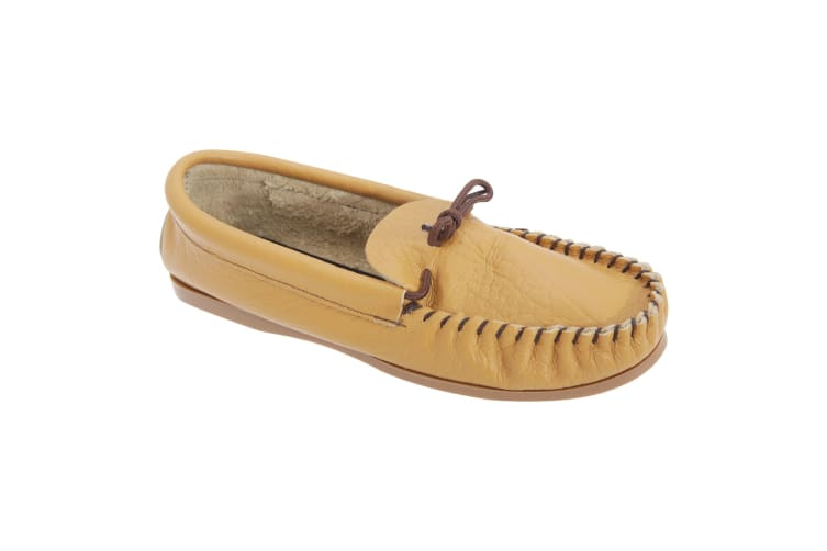 Mokkers Mens Gordon Softie Leather Moccasin Slippers (Tan) (9 UK)