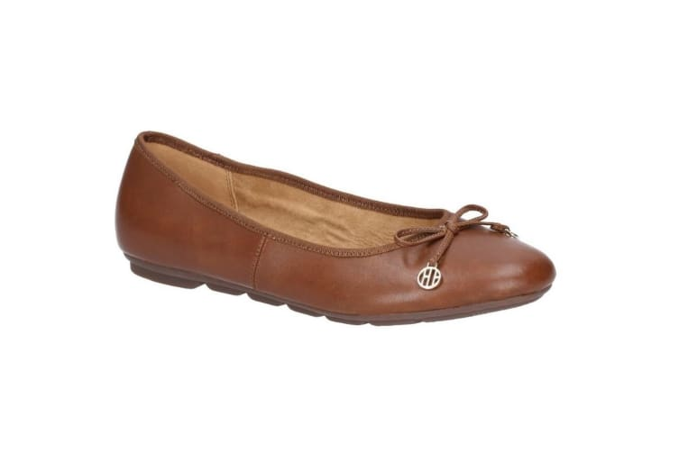Hush Puppies Womens/Ladies Abby Bow Leather Ballet Shoe (Dashund) (4 UK)