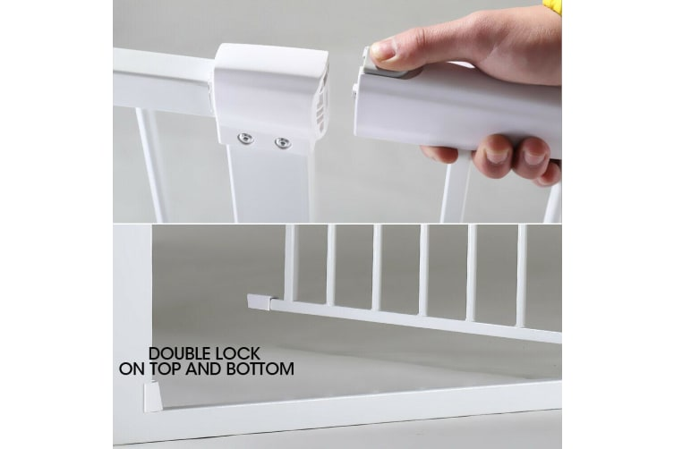 2 Pcs Adjustable Baby Kids Pet Safety Security Gate Stair Barrier Wall Bumpers