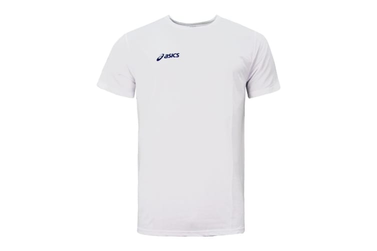 ASICS Men's Team Sport Tee (White, Size XS)
