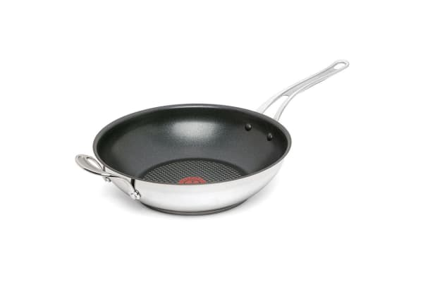 Tefal Jamie Oliver 30cm Stainless Steel Halogen Induction Non-Stick Wok Cookware