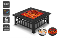 Cookmaster 3-in-1 Outdoor Fire Pit Grill - (CK2IN1FRPGB) - Manual