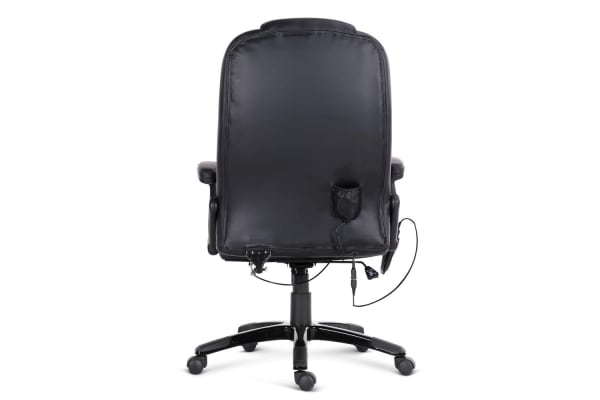 8 Point Massage Executive PU Leather Office Chair (Black)