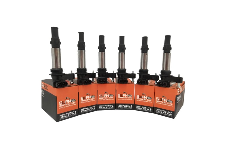 Pack of 6 - SWAN Ignition Coil for Saab 9-3 (2.8L Turbo)