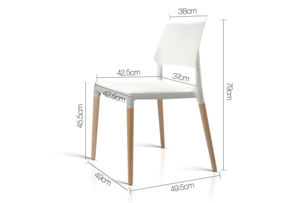 Set of 4 Belloch Replica Dining Chair (White)