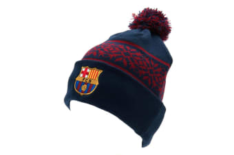 FC Barcelona Official Adults Unisex SF Ski Hat (Blue/Burgundy) (One Size)