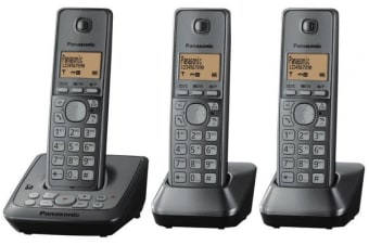 Panasonic Dect 6.0 Triple Handset Cordless Phone Answer Eco Mode Kx-Tg2723 - Refurbished