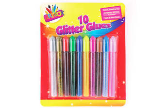 ArtBox 10 Glitter Glues Pens (Multicoloured) (One Size)