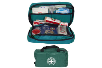 Green Emergency First Aid Kit Treatment Car/Travel/Camping Medical Survival