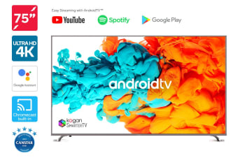 "Kogan 75"" XU9010 4K LED SmarterTVâ""¢ ( Android TVâ""¢, Smart TV )"