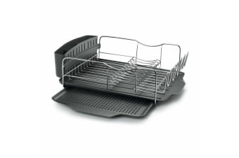 Polder Advantage Dish Drying Rack 4pc S/Steel Cutlery Drainer Drain Tray