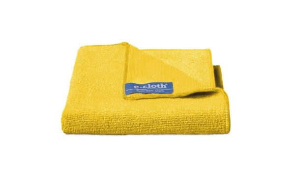 4PK E-Cloth Bathroom Cleaning Wash Dry Polish Home Cloths Duster Towels Yellow