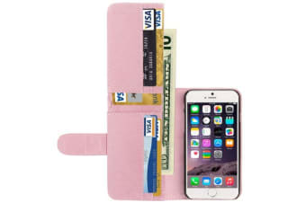 For iPhone 6S PLUS 6 PLUS Case  Horse Leather Shielding Cover Pink