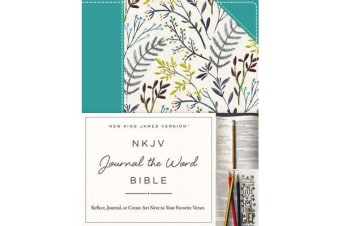 NKJV, Journal the Word Bible, Cloth over Board, Blue Floral, Red Letter Edition - Reflect, Journal, or Create Art Next to Your Favorite Verses