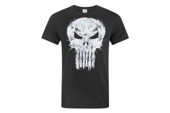 Marvel Mens The Punisher Logo T-Shirt (Black)