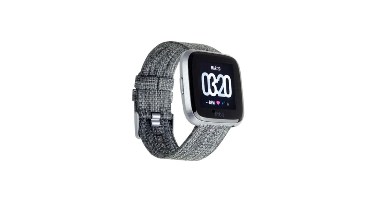 fitbit versa smart fitness watch special edition charcoal
