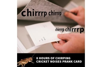 Chirping Cricket Noises Prank Card: from Joker Greetings