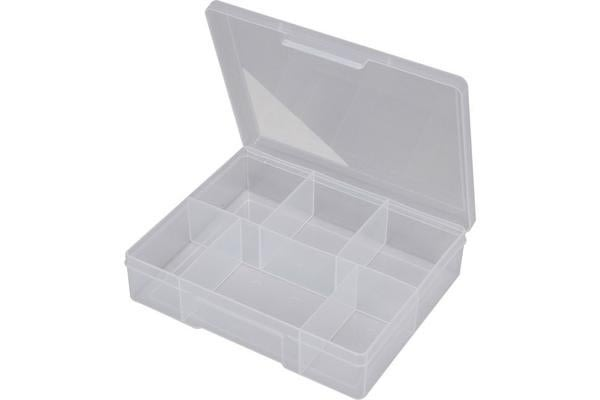 Fischer Plastic 6 Compartment Storage Box