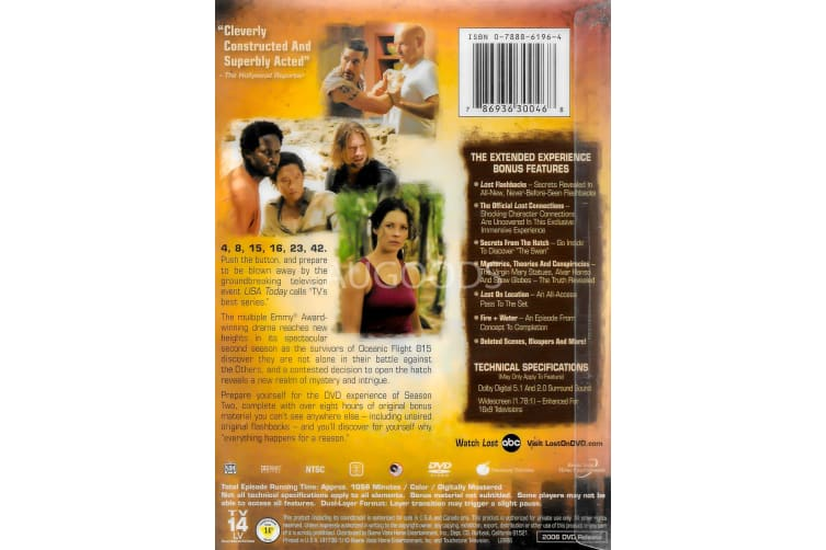 Lost The Complete Second Season - Region 1 Rare- Aus Stock DVD PREOWNED: DISC LIKE NEW