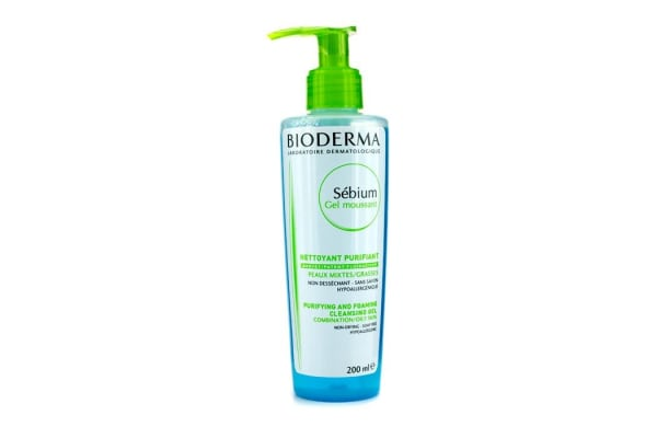 Bioderma Sebium Purifying and Foaming Cleansing Gel (For Combination/Oily Skin) (200ml/6.7oz)