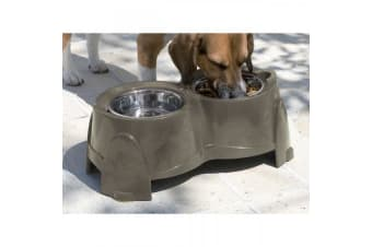 Savic Ergo Twin Dog Feeder - ASRTD (Green)
