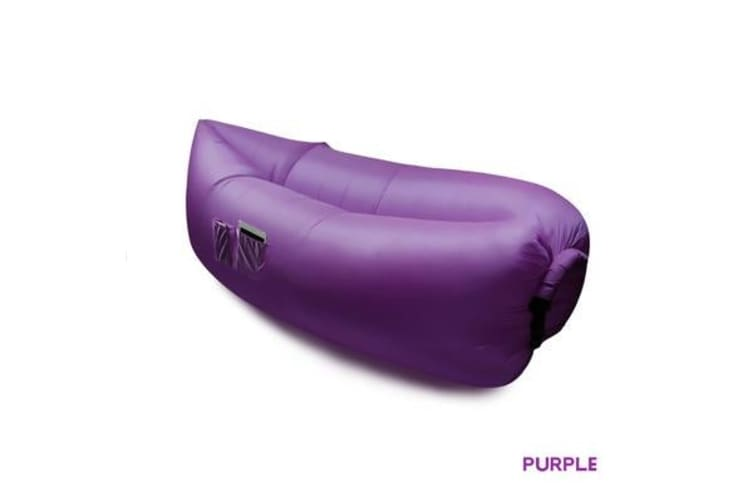 Fast Inflatable Air Bag Sofa Purple Colour