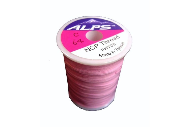 Alps 100yds of Light Pink Rod Wrapping Thread - Size C (0.2mm) Rod Binding Cotton