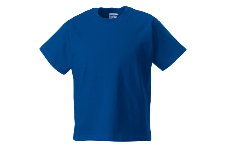 Jerzees Schoolgear Childrens Classic Plain T-Shirt (Pack of 2) (Bright Royal) (1-2)