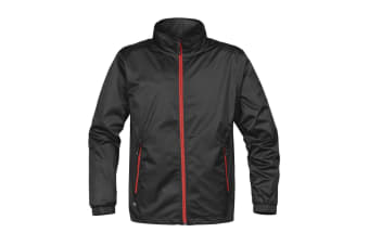 Stormtech Mens Axis Lightweight Shell Jacket (Waterproof And Breathable) (Black/Sport Red)