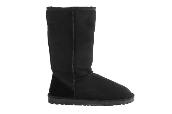 OZWEAR Connection Classic Long Ugg Boots (Black, Size 6M / 7W US)