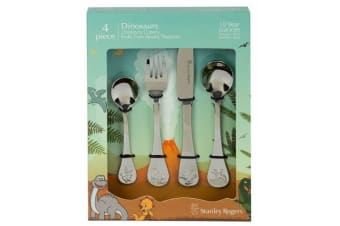 Stanley Rogers Children's Cutlery 4 Piece Set DINOSAURS Stainless Steel Gift Box