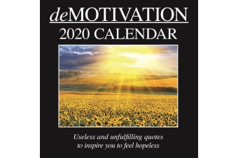 Demotivation - 2020 Wall Calendar 16 month Premium Square 30x30cm (U)