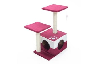 Cat Tree Scratcher MONO 70cm - RED