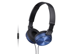 Sony ZX310 Smartphone On Ear Headphones - Blue (MDR-ZX310APL)