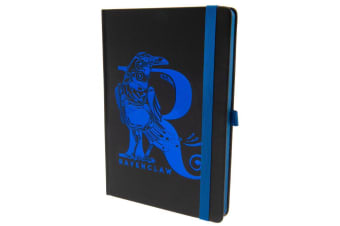 Harry Potter Official Ravenclaw Premium Foil Notebook (Black/Blue) (One Size)