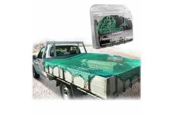 CARFIT 6' X 4' CARGO COVER TRAILER UTE NET 1.4X1.9M 25MM MESH ADJUSTABLE BUNGEE