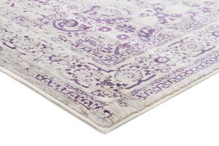 Isfahan Transitional Modern Rug Aubergine White Grey 400X300cm