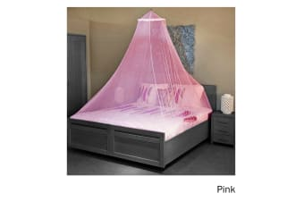 Trendy Home Mosquito Net with Hook Pink