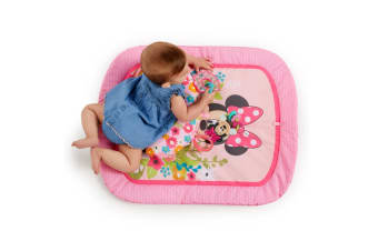 Bright Starts Minnie Mouse Garden Party Baby Infant Tummy Prop Play Mat Toys 0m+
