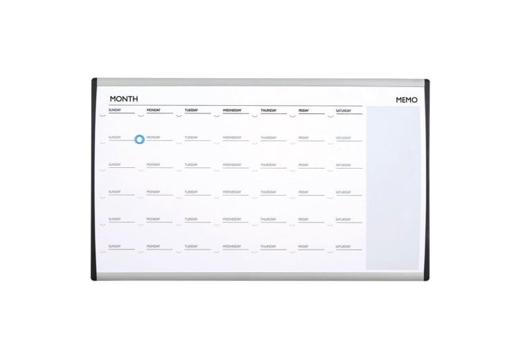 Quartet 76x46cm ARC Cubicle Magnetic Whiteboard Weekly Planner Calendar w/ Pen