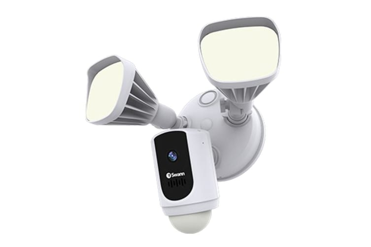Swann Wi-Fi Floodlight Security System with 1080p Camera Speaker & Light (Black) (SWWHD-FLOCAMB-AU)