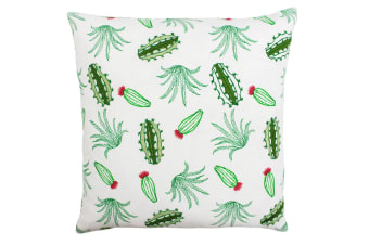 Paoletti Desert Cactus Cushion Cover (Green/Coral)