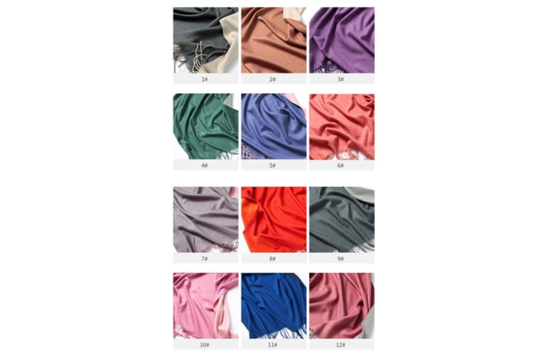 Scarf Female Double-Sided Pure Color Warm Shawl Autumn And Winter - 7 200Cm*70Cm
